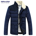 Port&Lotus Men Coat 2016 Winter Jacket Men Brand Clothing Autumn Winter Fashion Contrast Color Casual Patchwork 005 wholesale