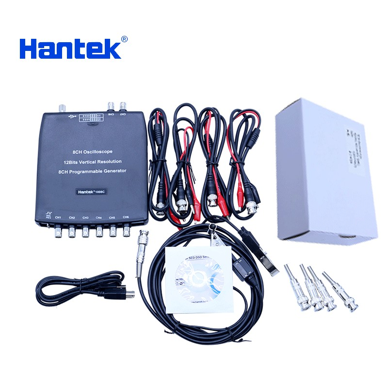 Hantek 1008C 8 Channels Programmable Generator 1008C Automotive Oscilloscope Digital Multime PC Storage Osciloscopio USB hantek 1008c 1008a 8 channels programmable generator 1008c automotive oscilloscope digital multime pc storage osciloscopio usb