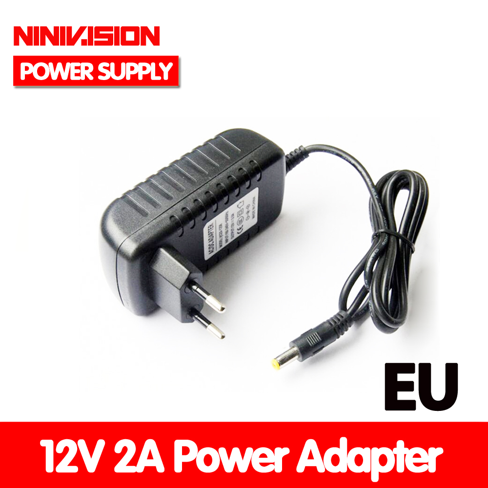 NINIVISION Special-purpose AC 100-240V 24W Converter Adapter EU plug DC 12V 2A Power Supply For Led Light StripNINIVISION Special-purpose AC 100-240V 24W Converter Adapter EU plug DC 12V 2A Power Supply For Led Light Strip