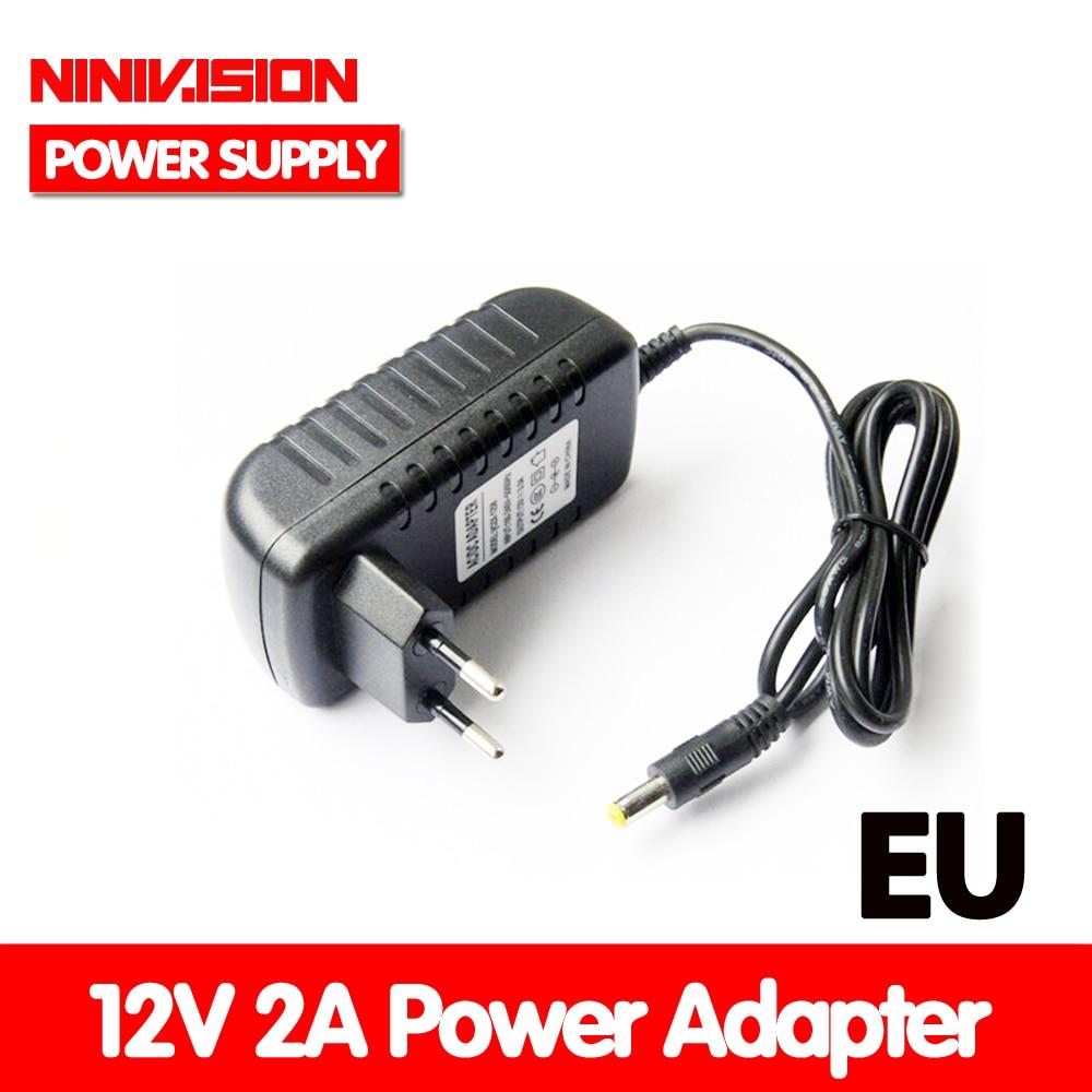 NINIVISION Special-purpose AC 100-240V 24W Converter Adapter EU Plug DC 12V 2A Power Supply For Led Light Strip
