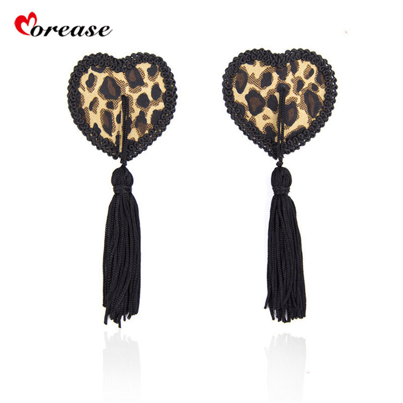 Morease Leopard Nipple Cover Pads Self Adhesive Sticker Breast Pasties Adult Game Erotic BDSM Fetish Product Sex Toy For Woman
