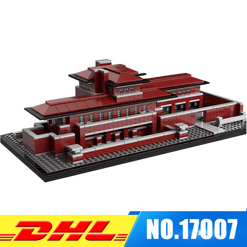 IN STOCK LEPIN 17007 2326Pcs Genuine Architecture Series The Robie House Set Educational Building Blocks Bricks Toys Model 21010 in stock lepin 23015 485pcs science and technology education toys educational building blocks set classic pegasus toys gifts