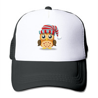 Summer Unisex Owl Turban polyester Mesh Hat Vintage 3D Print baseball Hats Adjustable Snapback