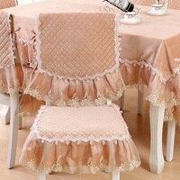 ยุโรปกระชับที่ทันสมัยผสมผ้าปูโต๊ะเก้าอี้รับประทานอาหารสี