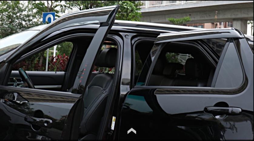 Window Visor Vent Shades Sun Pioggia Guard Deflettore for Ford Explorer 2016 2017 2018 Senza Strisce Luminose 4 Pz