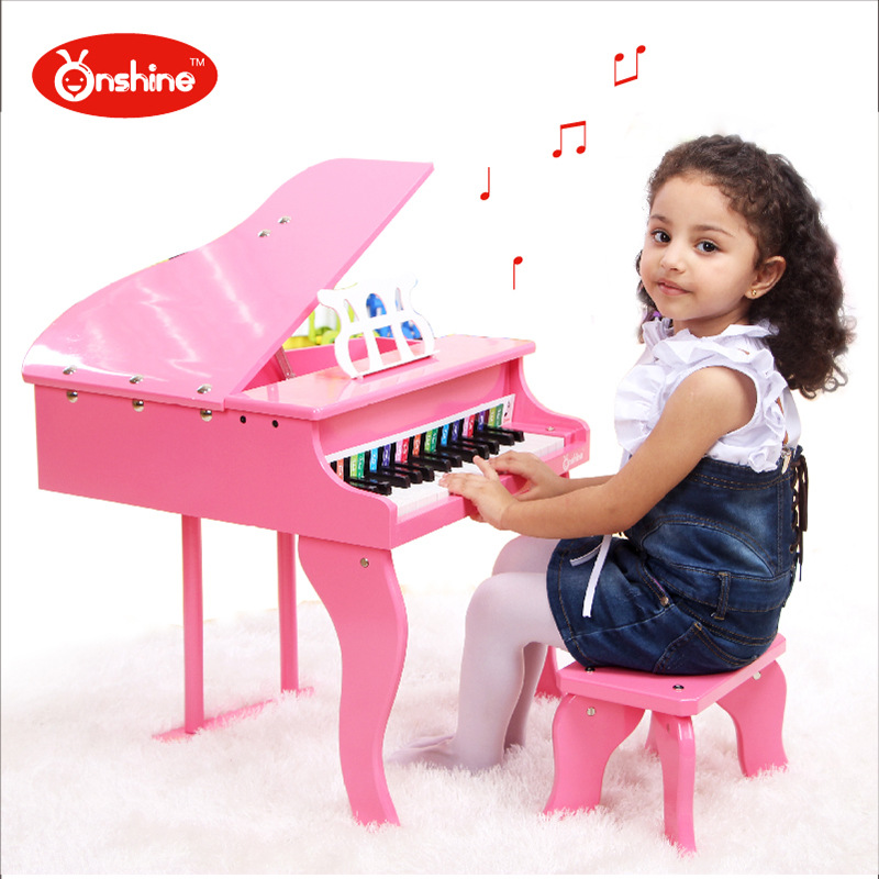 30 keyboards Beautiful Music Toy Baby Toy Wooden Grand Piano Musical Toys Instrument for Children Kids Educational Electric Toy