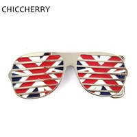 Novelty British Flag Glasses Metal Belt Bukcles Zinc Alloy Male Accessories For Men 4cm Width Belts