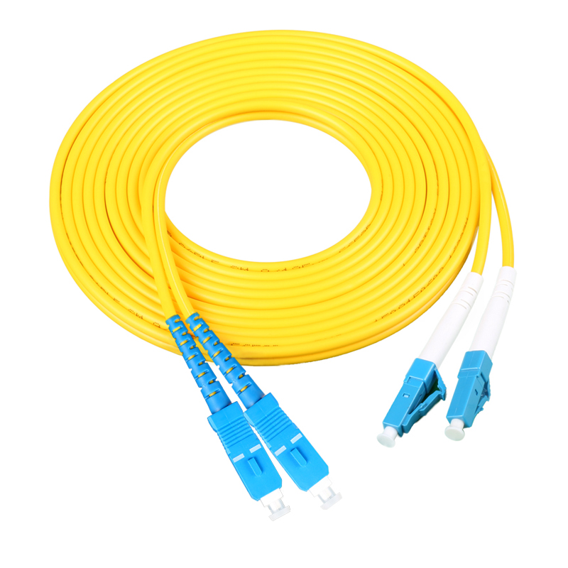 Free Shipping 5pcs/lot 2.0mm 3 Meters 9/125 SM Duplex LC/UPC to SC/UPC LC-SC Fiber Optic Patch Cord Jumper CableFree Shipping 5pcs/lot 2.0mm 3 Meters 9/125 SM Duplex LC/UPC to SC/UPC LC-SC Fiber Optic Patch Cord Jumper Cable