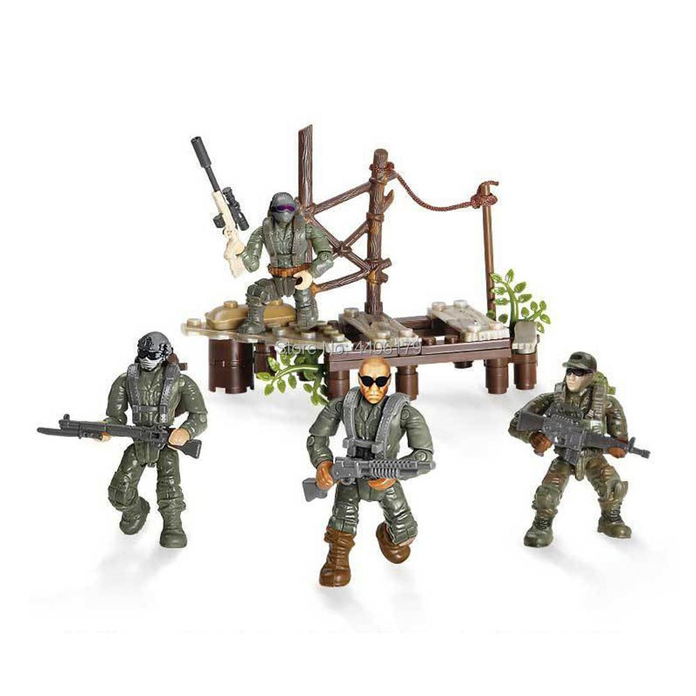 hot LegoINGlys military ww2 Special forces base war Building Blocks weapons army figures moc model bricks toys for children gift in Blocks from Toys Hobbies