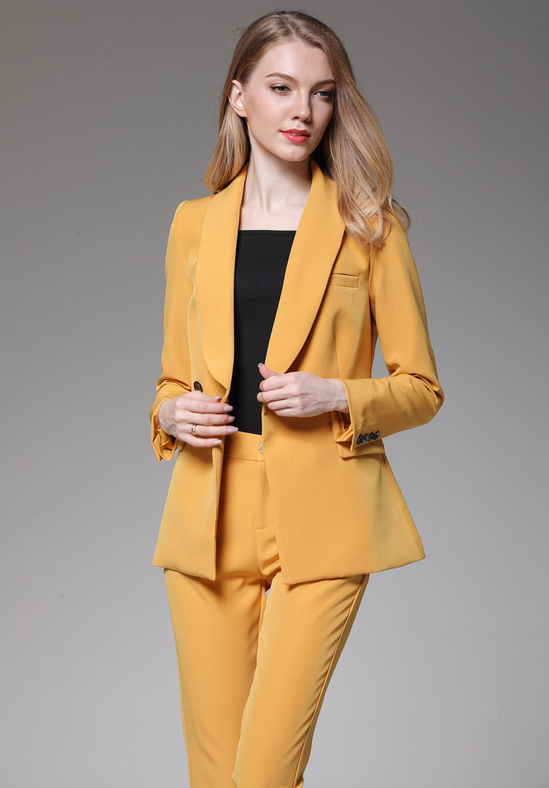Fashion NEW Women Spring / Autumn Slim Small Suit Pants