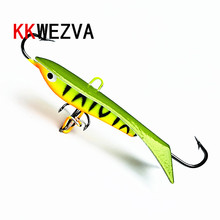 KKWEZVA 1pc 60mm 9.3g Ice jig for winter Fishing Lure Ice Fishing Hard Bait Pesca Tackle Isca Artificial Bait ice lure fishing spoon bait for winter fishing 8g 50mm isca artificial metal jig winter fishing tackles leurre peche 509