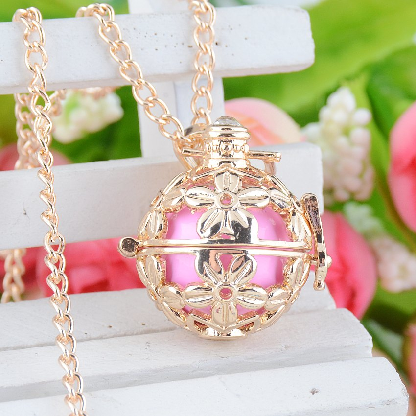 Free Shipping-Mum Gift Pregnancy Baby Gift Blackened Angel Mexico Bola Pregnant Bell Engelsrufer Necklace 24 y0032
