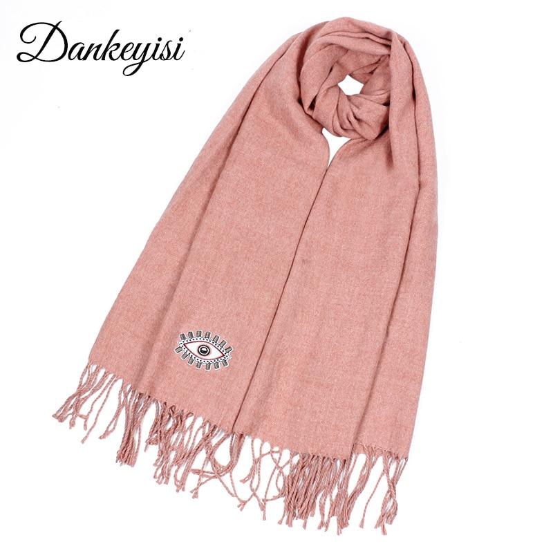 DANKEYISI Winter Warm Long Women Scarf Female Cashmere Oversized Bandana Scarf Men Blanket Scarf Shawls Ladies Tassel Scarves