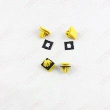 Желтый Пластиковый Авто Порога Полосы Отделка Клипса Застежка Черный Прокладка Для Hyundai (30 шт.)