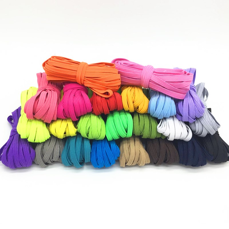 6mm Colorful High-elastic Elastic Bands Rope Rubber Band Line Spandex Ribbon Sewing Lace Trim Waist Band Garment Accessory 5M