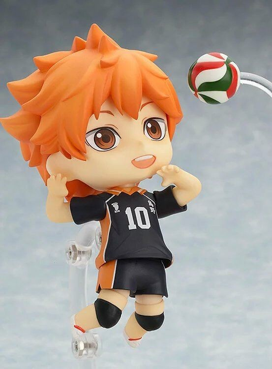 Anime Haikyu!! Shoyo Hinata Karasuno High School Volleyball Club Nendoroid 461 PVC Action Figure Collectible Model Toy KT1711 anime dragon ball super saiyan 3 son gokou pvc action figure collectible model toy 18cm kt2841