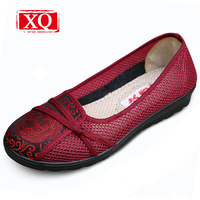 Breathable Old Beijing Cloth Shoes Women S Hollow Out Summer Casual Shoes Sandals Non Slip Mother