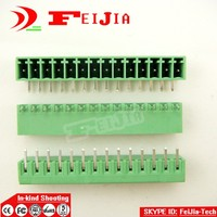 50pcs Lot 15EDG 14P Bend Pin PCB Screw Terminal Block Connector 3 5mm Pitch 14