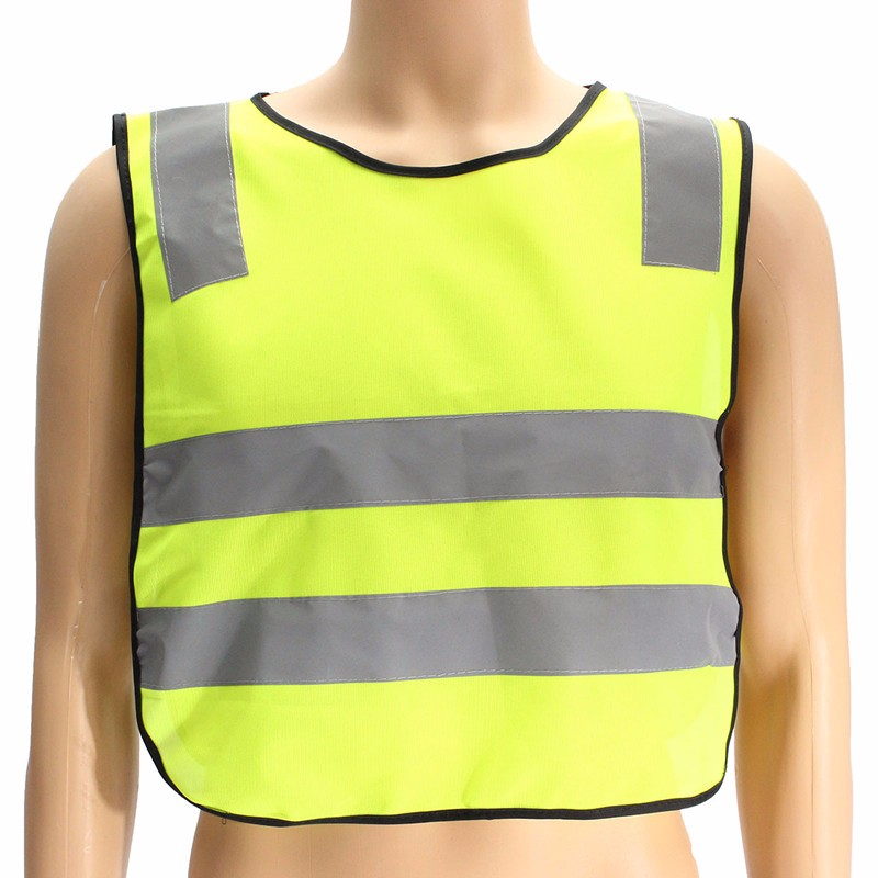 NEW Details about Children Safety Waistcoat Vest Grey Reflective Strips Hi Vis Traffic Clothes Free Shipping good sale reflective safety vest 2 strips waistcoat for construction traffic warehouse green