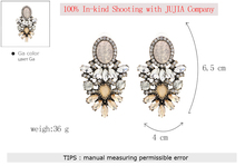 Wholesale good quality big crystal earring 2017 New statement fashion stud Earrings for women