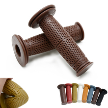7/8 22mm Motorcycle Hand Grips Handle Rubber Bar Gel Grips Retro Rubber Motorcycle Bike Vintage Coke Bottle Hand Grip x 2pcs vodool 2pcs rubber motorcycle grip 22mm motorcycle vintage handlebar grip for all motorcycle high quality cars styling