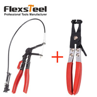 Auto Vehicle Car Repairs Tools Cable Type Flexible Wire Long Reach Hose Clamp Pliers Tools Straight