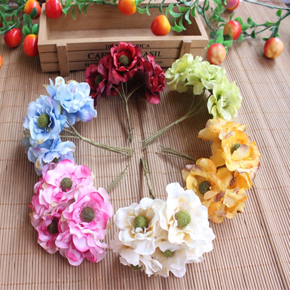 6 Pcs Flower Wreath Of Diy Materials Simulation Yun Plum Flower