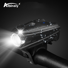 USB charging bicycle light 5 light mode LED  Bike light touch switch waterproof cycling accessories suit for night riding usb charging led bicycle light 5 light mode highlight waterproof warning bike light to send free usb cable suit for night riding