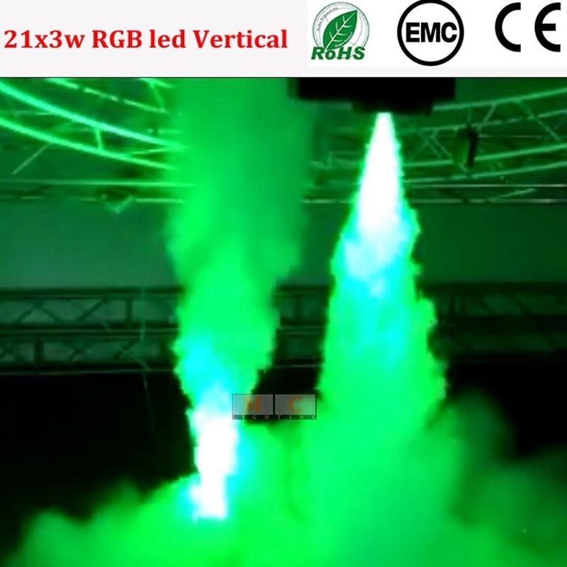 1500W RGB Tri-color DMX LED Vertical Smoke Fog Machine