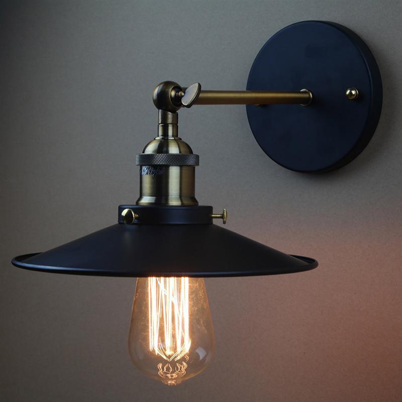 Vintage Plated Industrial Wall Lamp Retro Loft LED Wall Light Lamparas De Pared Stair Iron Wall Sconce Abajur Luminaria vintage loft simple handmade plated