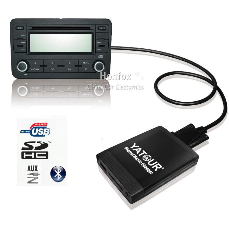 ФОТО Yatour car Digital music changer YT-M06 For  Nissan / Infiniti Car MP3 interface USB SD MP3  SD AUX adapter interface cd changer