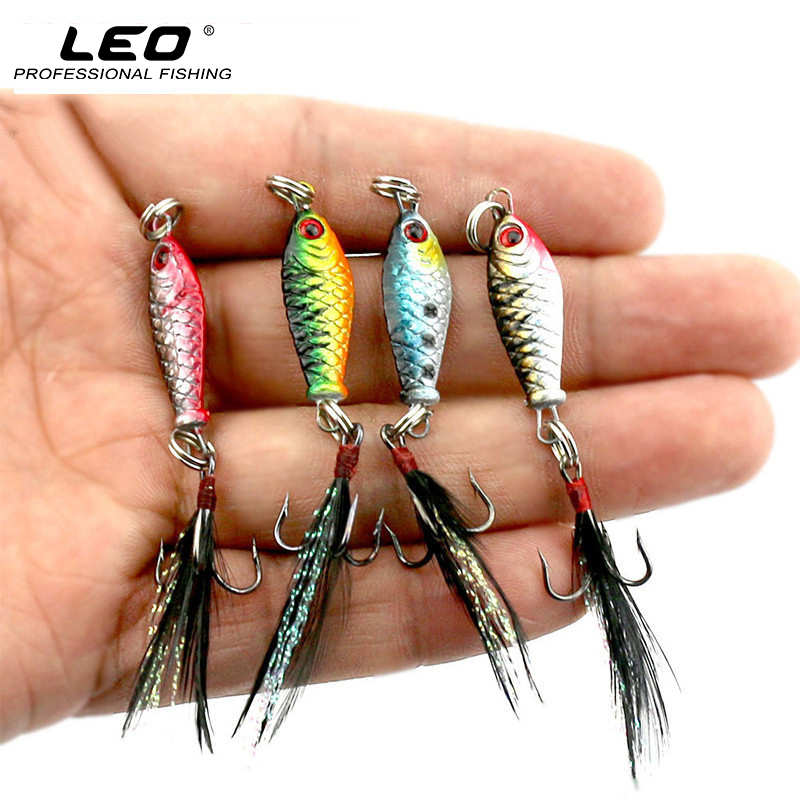 Mini Metal Fishing Lure with Feather Lifelike 3D Eye Artificial Fish Hard Bait for Lure Fishing Accessories 2.5cm 6.4g LB003 hard pedal small mini water fishing