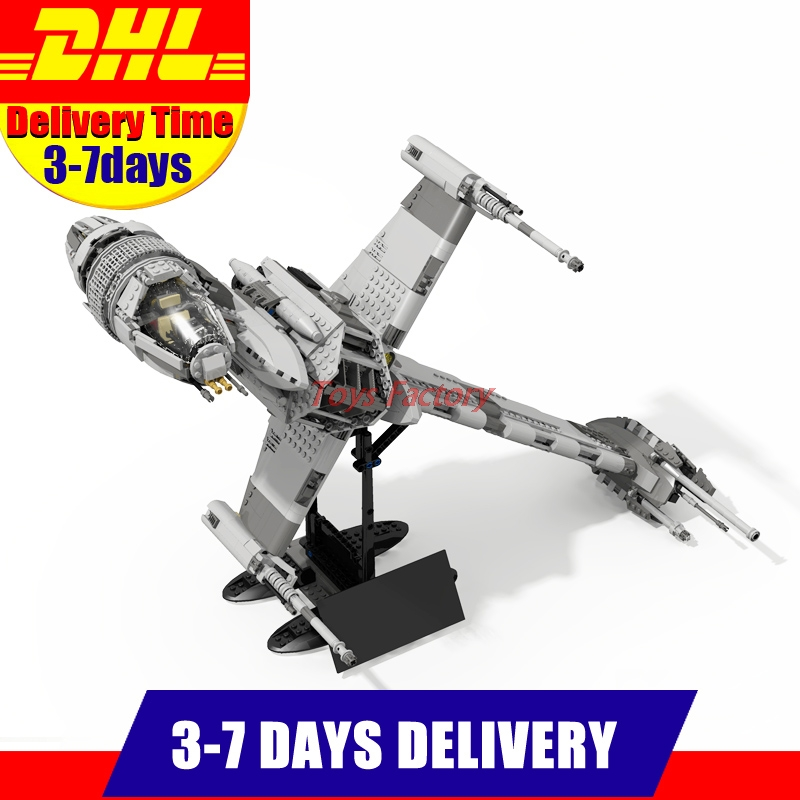 2018 DHL Lepin 05045 1487pcs Star UCS War Series The B-wing Starfighter Educational Building Blocks Bricks Toys 10227 lepin 05040 y attack starfighter wing building block assembled brick star series war toys compatible with 10134 educational gift