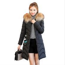 2018 New warm Winter jacket women large fur outerwear long down cotton-padded jacket coat wadded jacket winter coat women цены онлайн