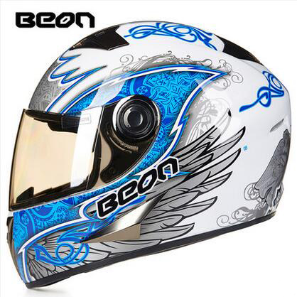 2016 Anti-dazzle deceleration BEON B-500 full face motorcycle helmet winter warm security motorbike helmets for four season