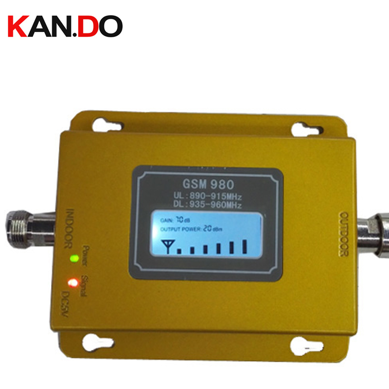 New Yellow Color GSM 980 17dbm Power LCD Display Phone Booster Repeater GSM Repeater Booster,GSM Signal Booster Gsm Booster
