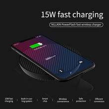 15W Veloce Caricabatterie Senza Fili Per Samsung S9/Nota 9/S9 + Nillkin Qi Wireless Pad di Ricarica fibra per il iPhone XS Max/XS/8/8 Più