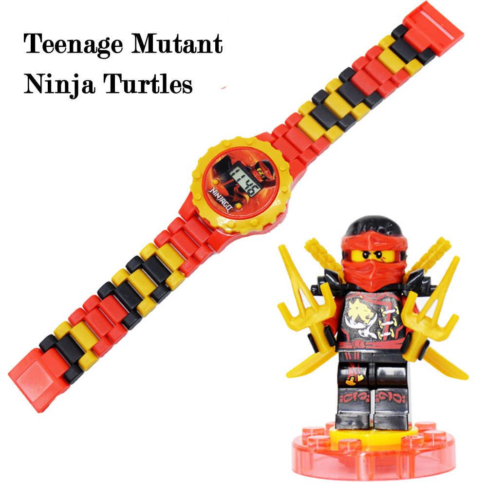 Детская игрушка часы летучая мышь Железный человек Марвел Мстители электронные гаджеты принцесса девушки подарок на день рождения Блоки обучающие игрушки для детей