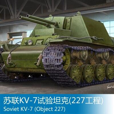 Modèle d'assemblage jouets trompette 1/35 soviétique KV-7 réservoir d'essai (227)