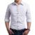 Hot 2016 de Primavera y Otoño hombres de la moda Británica Pequeña Estrella de Cinco puntas de Impresión Camisas de Manga Larga de Los Hombres Slim Fit Camisa masculina