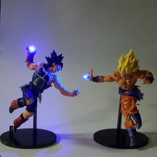 Dragon Ball Super Saiyan God Action Figures Son Goku Burdock DBZ Led light