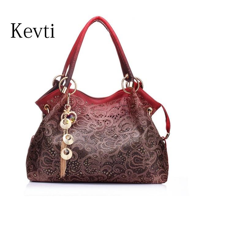 kevti diseador de cuero bolso de las mujeres de moda femenina bolsas de hombro de