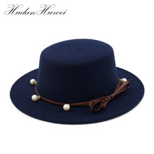 Men Women Fedora Hat Flat Dome Oval Top Bowler Porkpie Toca Sombrero Hat  With Black Ribbon 1792393f6026