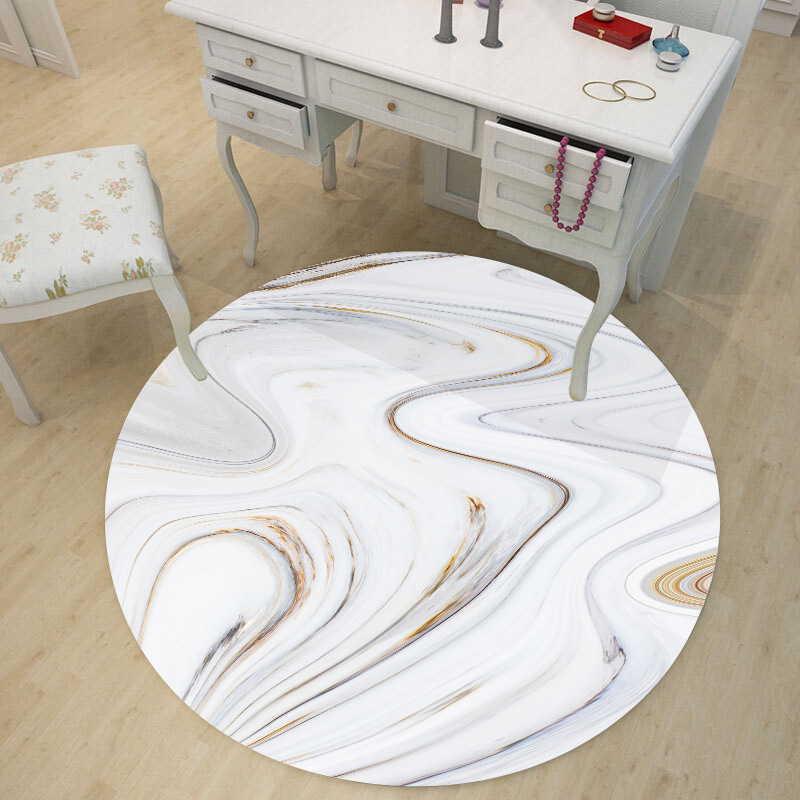 Abstract water texture marble 60 80cm round table sticker Living room bedroom waterproof floor stickers PVC self adhesive film in Decorative Films from Home Garden