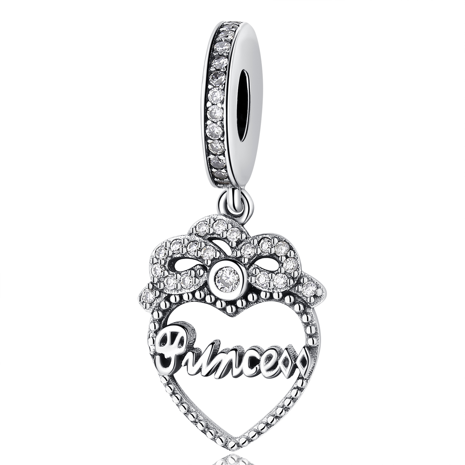 ed8f1b4f8 Aliexpress.com : Buy NEW Authentic 925 Sterling Silver Bead Love Heart Mom  Home Family Forever Charm Fit Pandora Original Bracelets & Bangles Jewelry  from ...