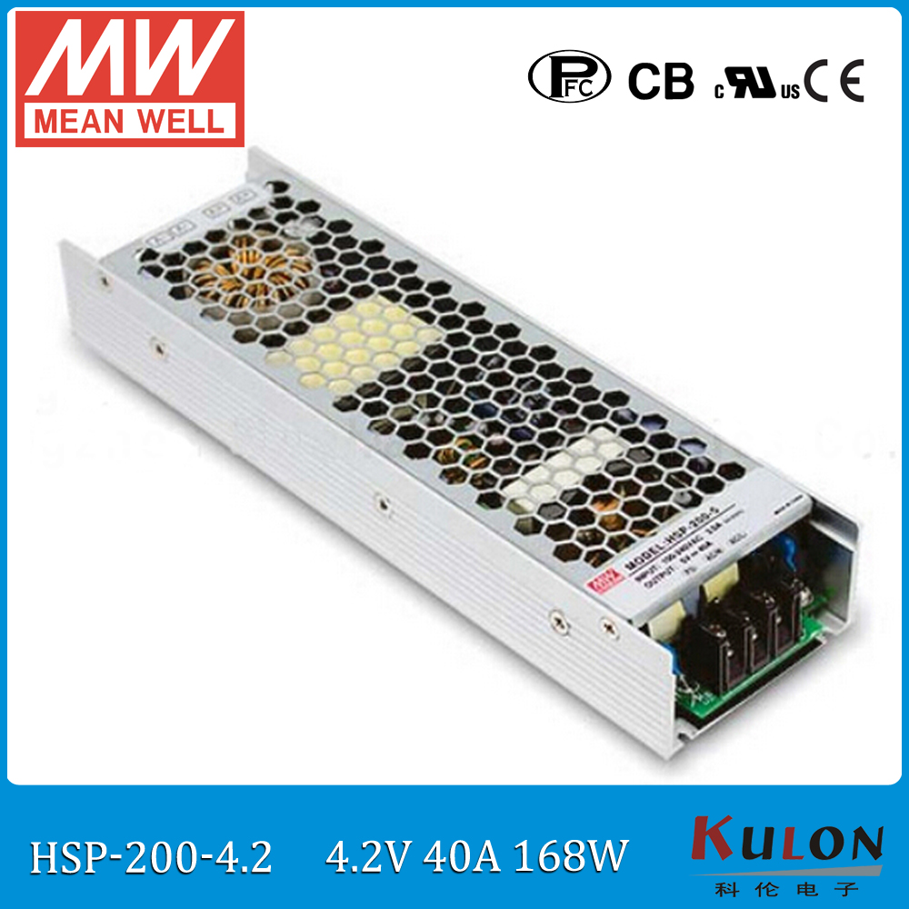 купить Original Meanwell HSP-200-4.2 160W 40A 4.2V conformal coated Power Supply 4.2V power supply with PFC for LED moving sign panel онлайн