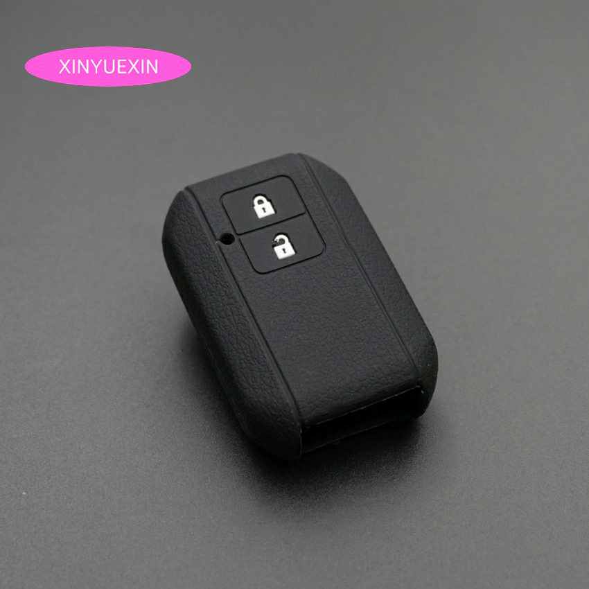 Xinyuexin Silicone Car Key Cover FOB Case for Suzuki Swift Wagon R Japan Monopoly 2 Buttons Remote Key Case Car Styling xinyuexin silicone car key cover fob case for toyota altezza wish carina one button on side remote key car styling