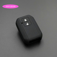 Xinyuexin Silicone Car Key Cover FOB Case for Suzuki Swift Wagon R Japan Monopoly 2 Buttons Remote Styling