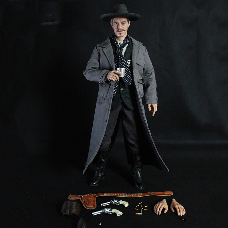 1/6 Scale Cowboy Full Set Action Figures DOC Holliday 12 Inches Models Toys Collections Clothes Accessories Body Head