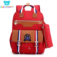 SUN EIGHT Orthopedic Backpack School Bag For Girl Oxford Backpack Children School Bookbag Girl's School Bags Handbag 6 Colors